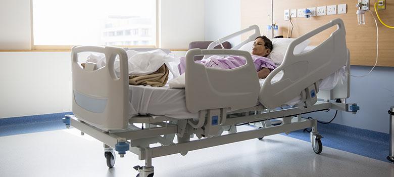 Une patiente à l'hôpital